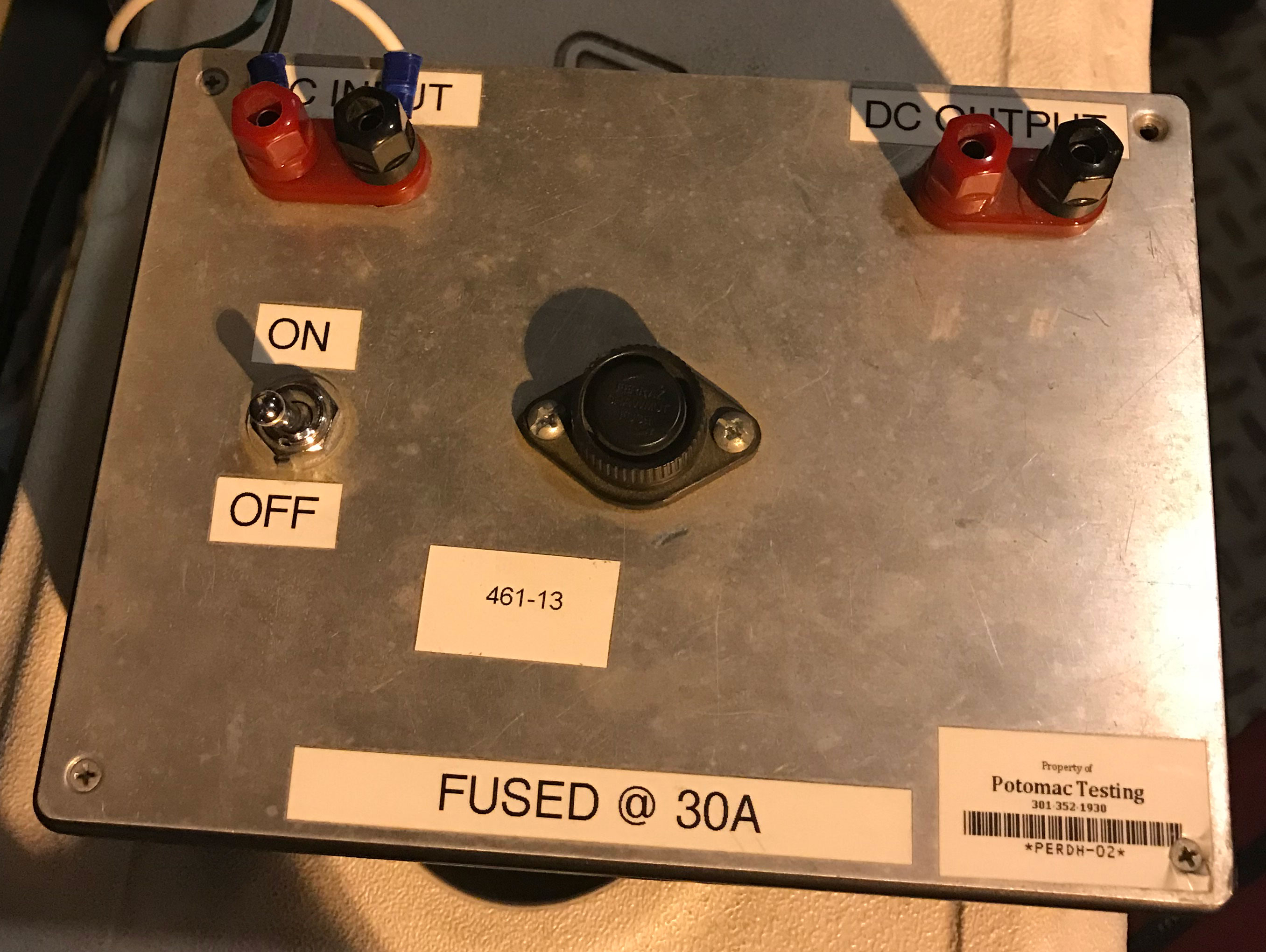 Custom Voltage Test Box Electrical Tech Fuse Switch A 30a In Series Between The And 120v Rectifier Input This Is Radioshack Plastic Project With Steel Decorative Finish Plate